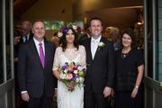 John Key, Rachel Trimble (O'Connor), Simon O'Connor and Bronagh Key. Photo / Chris Loufte