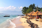 The Contiki van was heading to a local surf beach on the Gili Islands in Indonesia.