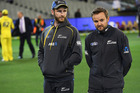 Kane Williamson and Mike Hesson after losing to Australia 0-3. Photo / Photosport.co.nz