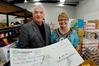 BIG GIVER: Tony Kinzett, left, and Tauranga Community Foodbank manager Nicki Goodwin with the $2000 donation. Photo/George Novak