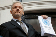"""Wikileaks founder Julian Assange has given a public statement for the first time hitting back at rape allegations, claiming he is """"entirely innocent"""". Photo / AP"""
