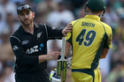 New Zealand's Kane Williamson, left, congratulates Australia's Steven Smith after Smith made 164 runs during their one day international cricket match in Sydney. Photo / AP.