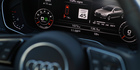 The dashboard of an Audi A4 is seen during a demonstration of Audi's vehicle-to-infrastructure technology. Photo / AP