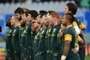 FILE - In this Saturday, Nov. 19, 2016 file photo, South Africa players line up before the start of the international rugby union test match against Italy in Florence, Italy. Photo / AP.
