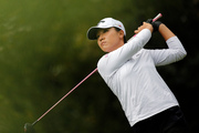 Lydia Ko follows her ball during the second round of the Evian Championship women's golf tournament. Photo / AP