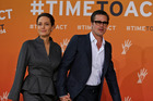 Angelina Jolie and Brad Pitt, seen her in 2014, have reached a divorce settlement after two years of marriage. Photo/AP