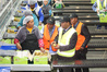 SOLOMON CONNECTION: Solomon Islands minister Steven Abana meets kiwifruit workers at Aongatete Coolstores, Katikati, in this file photo taken before the earthquake.