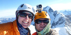 Rescuers found Stuart Hollaway (right) and partner Dale Thistlethwaite's bodies on January 1 this year at the bottom of a steep eastern slope of Mt Silberhorn after they failed to make radio contact.