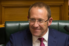 Labour Party leader Andrew Little smiled at the journalists and their cameras.  Photo / Mark Mitchell
