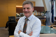 Finance Minister Bill English in his Beehive office. Photo / Mark Mitchell