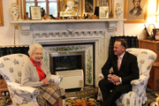Outgoing PM John Key today had what is likely to be his last conversation with her Majesty Queen Elizabeth II. Above, she entertains the PM at Balmoral castle, Scotland, in 2013. Photo / Claire Trevett