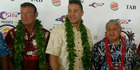 Kevin Barry, heavyweight boxer Joseph Parker and Samoan Prime Minister Tuilaepa Sailele Malielegaoi. Photo / NZ Herald.