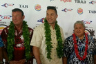 Kevin Barry, heavyweight boxer Joseph Parker and Samoan Prime Minister Tuilaepa Sailele Malielegaoi. Photo / NZ Herald.