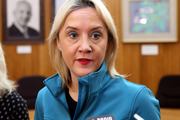 National MP Nikki Kaye has returned to Parliament for the first time since she was diagnosed with breast cancer. Photo / Stuart Munro
