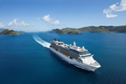 Celebrity Solstice pictured on a sunnier day than the one passengers are currently experiencing in Northland.