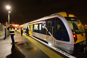 Auckland Transport called police about 10.30pm after kids playing on the tracks brought a train to a halt. File Photo / Greg Bowker