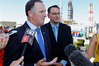 """Whangarei National MP Shane Reti (right) said the PM's move surprised him """"but I appreciated his honesty and I understand the reasons"""". Photo/John Stone"""