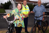 Evie and Phil Coonrod with the bicycles Senior Constable Grant Holder (centre) and a colleague recovered after they were stolen in Taradale. Photo / Paul Taylor