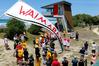 Brand new: The official opening of the Waimarama surf lifesaving tower at Waimarama Beach on Saturday. Photo/Warren Buckland.