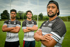 Captain Neria Fomai hopes his style of leadership will help rookies such as HBHS pair Jeriah Mua (left) and Trent Hope during the Central Region Sevens tomorrow in Levin. PHOTO/Warren Buckland
