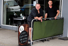 Walton Street Cafe owners Matt Brown (left) and Chris Jack in the outdoor area of their cafe. Photo / John Stone