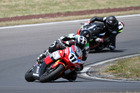 Tony Rees narrowly leads Scott Moir and Sloan Frost at Taupo last weekend. PHOTO/ TERRY STEVENSON