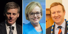 Bill English, Judith Collins and Jonathan Coleman will run for National Party leader.