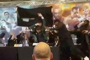 A press conference ahead of the fight between Dereck Chisora and Dillian Whyte descended into chaos. Photo / Twitter