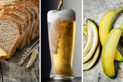 Bread, beer and bananas have all been flagged as unhealthy choices. Photos / Getty