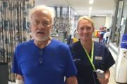 Buzz Aldrin is still in hospital but now focusing on getting back to his home in Satellite Beach, Florida. Photo / Twitter