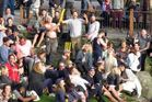 Revellers at Queenstown's impromptu Crate Day party. Photo / Philip Chandler, Otago Daily Times