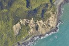 The latest release from Land Infomration New Zealand shows the drastic impact of the earthquake along State Highway 1. Photo / LINZ