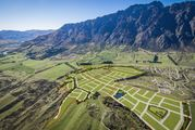 Hanleys Farm subdivision is between the base of the Remarkables and Lake Wakatipu. Photo / Facebook