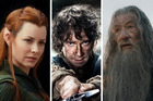 An elf, a hobbit and a wizard from the Lord of the Rings franchise.