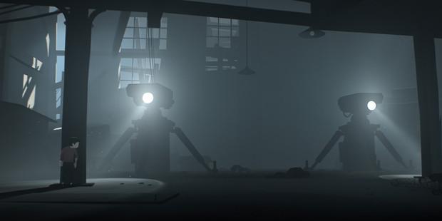 A scene from spooky platformer Inside, one of 2016's best games.