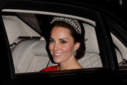 The Duchess of Cambridge wore the late Princess Diana's favourite tiara. Photo / Getty Images