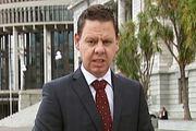 Patrick Gower presents TV3's John Key resignation coverage during last night's Newshub at 6pm. Photo/TV3