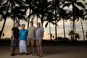 From left, Terry Anderson, Karolyn Anderson, Travis Anderson and John D. Anderson Jr. traveled to Hawaii where John D. Anderson's ashes are to be interred underwater. Photo / Washington Post