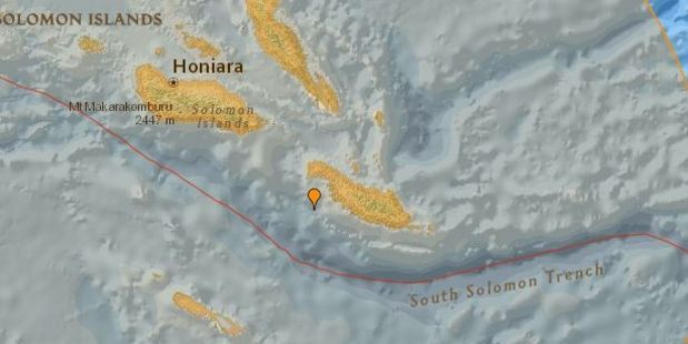 New Zealand is no longer under a tsunami threat after a powerful 7.8 earthquake struck off the Solomon Islands this morning.
