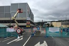 Queensgate Mall in Lower Hutt was scheduled to be demolished early this morning. Photo / Frances Cook