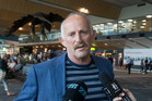 Gareth Morgan announcing the Opportunities Party immigration policy at Wellington Airport. Photo / Mark Mitchell