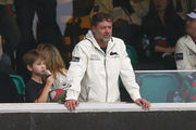 Rabbitohs owner Russell Crowe watches on during the round three NRL match between the St George Dragons and the South Sydney Rabbitohs. Photo / Getty Images