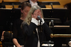 Patti Smith messes up her performance during the Nobel Prize Awards Ceremony. Photo / Getty