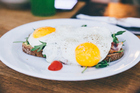 To get more choline, choose egg-based dishes such as frittatas and quiche. Just two whole eggs a day provides half of the choline most people need. Photo / Getty Images