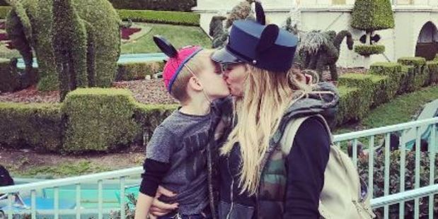 Hilary Duff defends kissing son on lips