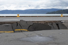 Damage at the CentrePort container wharf , Wellington, caused by the Kaikoura Earthquake. Photo / Mark Mitchell