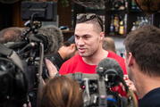 New Zealand Boxer and WBO Heavy Weight Champion Joseph Parker mingled with friends and family on Sunday. Photo / Greg Bowker