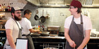 Culprit, 12 Wyndham St, CBD with chef Kyle Street, right, and Jordan MacDonald. Photo / Getty Images