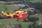 The Auckland Westpac Rescue Helicopter flew three people to Waikato Hospital last night after their ute fell 70m down a cliff. Photo / File