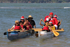 Hana Koko (the Maori name for Santa) is expected to arrive at Waitangi in a waka instead of a sleigh, just like last Christmas. PHOTO / PETER DE GRAAF